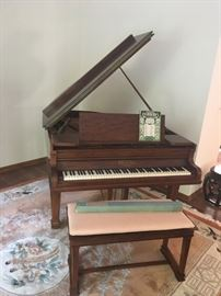 1930's J. Bauer & Co. Baby Grand Piano