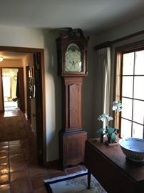 Porcelain Face Grandfather Clock from 1700's