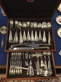Steiff Sterling Silverware Williamsburg Restoration set - 130 pc weighs over 12 pounds of Sterling Silver!!
