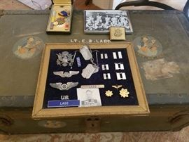 Just found Ww2 Airforce Trunk... Wings,medals,photos...