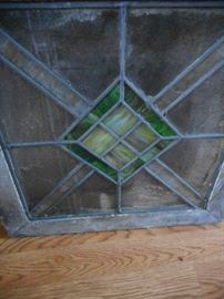 Vintage Stained Glass Small Window..Pair or Single