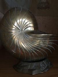 Decorative metal shell art