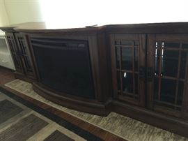 Electric fireplace with Media Mantel (Style Selection)   approx 78 inch long, 20 inch deep and 24 inch ht, cabinet on each end
