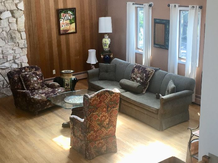 Living room sofa & chairs