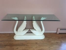 Fab vintage double swan console table