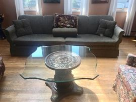 Vintage glass top table