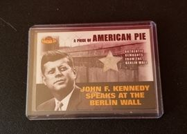 Topps John F. Kennedy/Berlin Wall Remnant Lucite card...Numbered
