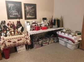 TONS of Christmas decorations