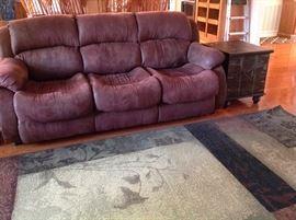Queen Sleeper Sofa & Nice Area Rug