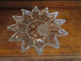 Sunburst crystal bowl