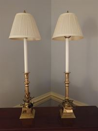 Pair of Candlestick lamps