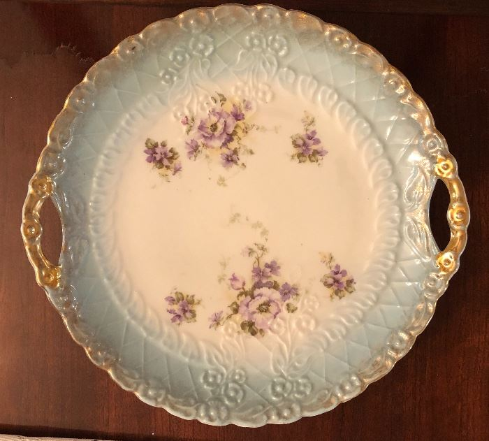 Early Porcelain China plate with handles