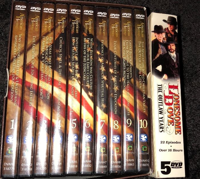 American Heritage DVDs  and Lonesome Dove series