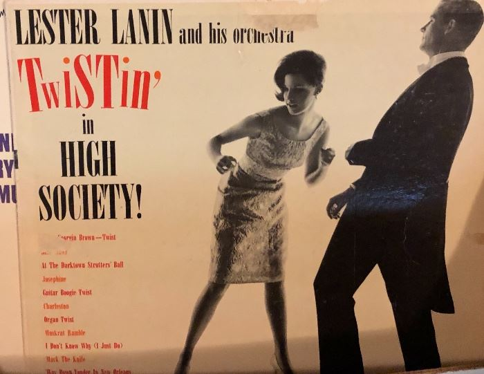 Vintage LP's Lester Lann, Ray Charles, George Jones,  Eddy Arnold, Mickey Gilley, and others