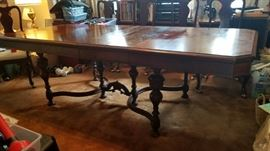 Walnut Dining table 96x42 50 years old
