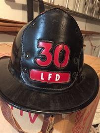 Vintage fireman's helmet