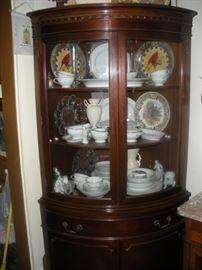 beautiful mahogany corner cupboard