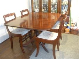Brandt Dining Table with Tell City Dining Chairs