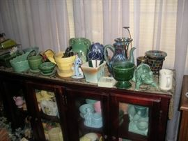 literally hundreds of pieces of mc coy , brush,hull,and nelson mc coy pottery