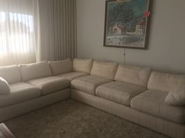 Free white sectional. Great condition.