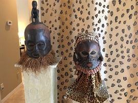 Large vintage African masks