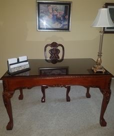Beautiful ornate desk with drawer, matching chair