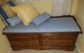 Lane cushion top cedar chest