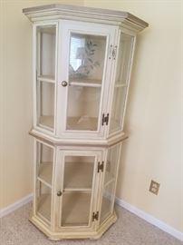 Stunning  handmade curio cabinet (on rollers)