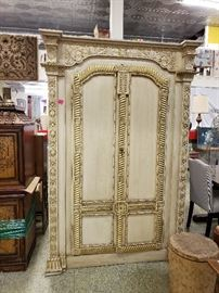 gold/white armoire
