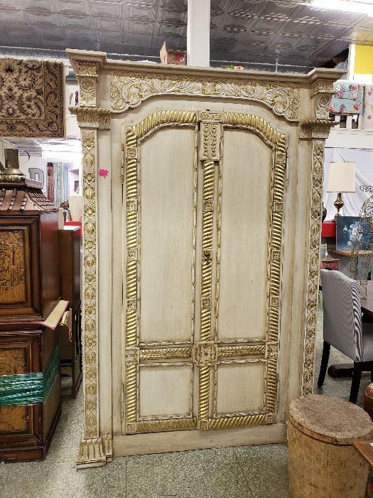 gold/white armoire
