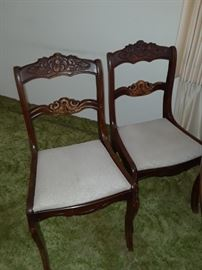 DR table chairs showing wear