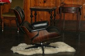 side view of the Eames lounge chair