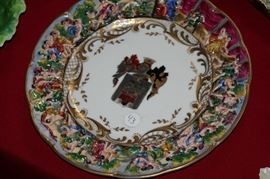 old naples armorial cabinet plate