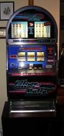 "Universal ""Silver Bullet"" slot machine - takes quarters"