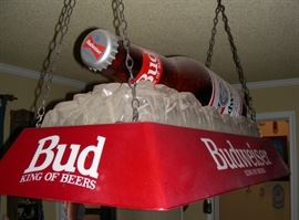 Budweiser light (it hung over a pool table)