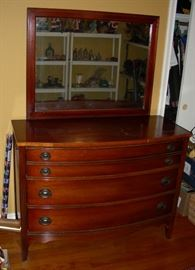 Dixie dresser and mirror