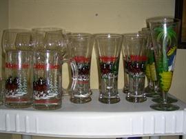 Budweiser mugs and pilsners