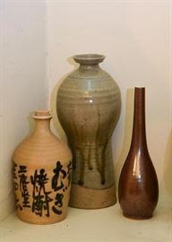 Pottery Vases & Bottles