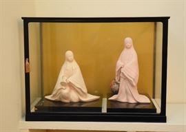 Japanese Hakata Ningyo Dolls, Display Case