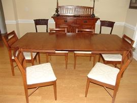 Danish Modern Dining table and chairs