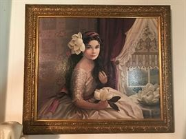 Patti bannister canvas transfer southern belle
