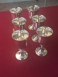 Wm. A Rogers Sterling Silver Goblets