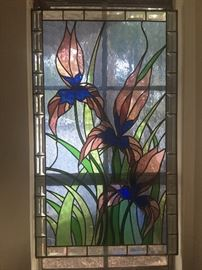 "Beautiful Stained Glass approximately 36"" x 21"""