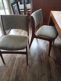 Mid-Century Modern Henning Kjærnulf Dining Chairs - TEAK