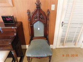 Antique Gothic chair.