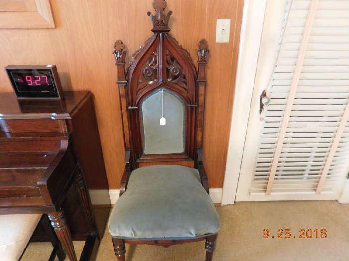 Antique Gothic chair.