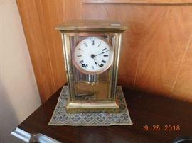 Vintage Ansonia brass clock.