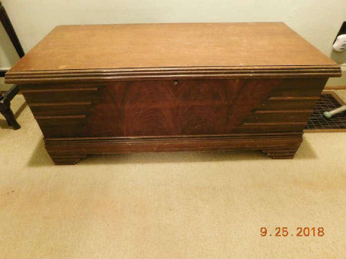 Cedar chest.