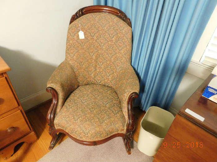 Victorian rocking chair.