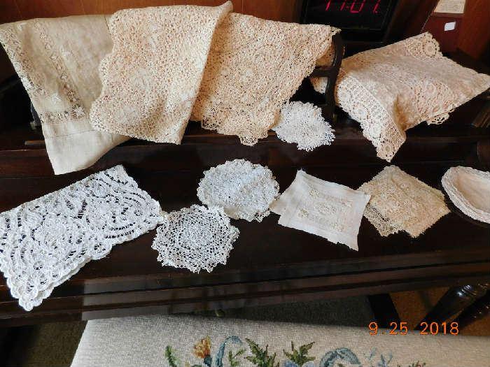 Vintage handmade lace.